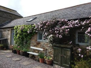 Image; Outside view of Northumberland holiday cottage